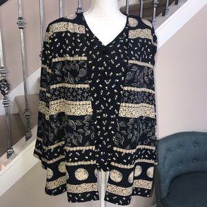 Alfredo Dunner long sleeves blouse size 18